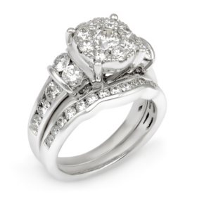 2.50 CT.T.W. Diamond Composite Engagement Ring Set in 14K White Gold (I-I1)