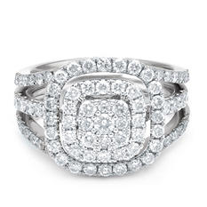 1.50 CT. T.W. Diamond & Interchangable Insert Ring Set in 14K White Gold (I/I1)