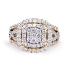 1.45 CT. T.W. Diamond & Interchangable Insert Ring Set in 14K White & Yellow Gold (I/I1)