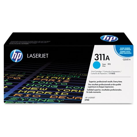 HP 311A Original Laser Jet Toner Cartridge, Select Color (6,000 Yield)