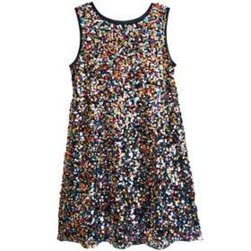 Lavender Girls' Confetti Sequin Dress