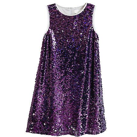 Lavender Girls' Flip Sequin Dress