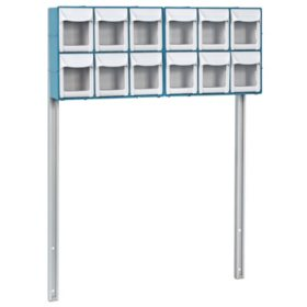 Detecto12-Bin Organizer with Accessory Bridge