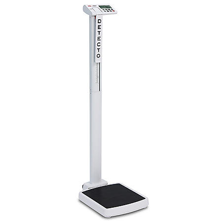 Digital Clinical Scale with Mechanical Height Rod, 550 lb. Capacity