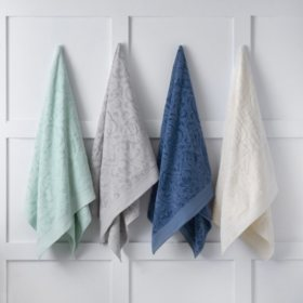 Martha Stewart Sculpted Bath Towels, Set of 2 (Various Colors)