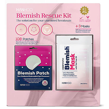 Hanhoo Blemish Rescue Kit 108 ct. Patches and 3ct. Masks