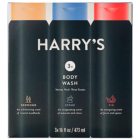 Harry's Men's Body Wash, Scent Sampler (16 fl. oz., 3 pk.)