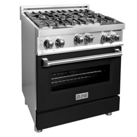 """ZLINE 30"""" 4.0 cu. ft. Range with Gas Stove and Gas Oven in Stainless Steel and White Matte Door (RG-WM-30)"""