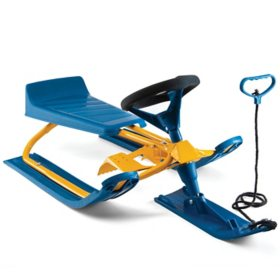 Frost Rush Snow Sled Racer For Kids with Easy-Grip Pull Rope