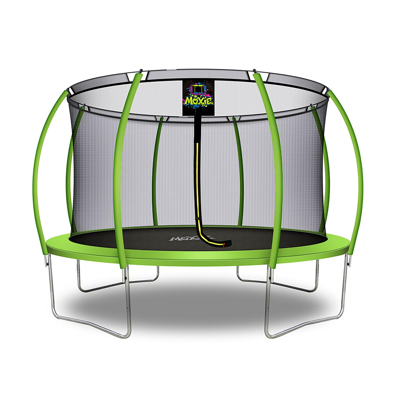 Moxie Pumpkin-Shaped 12′ Trampoline with Enclosure Net