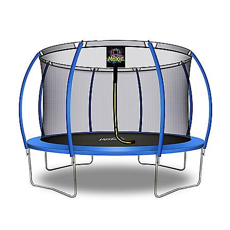 Moxie Pumpkin-Shaped 12' Trampoline with Enclosure Net