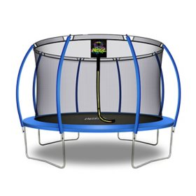Moxie Pumpkin-Shaped 12' Trampoline with Enclosure Net