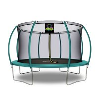 Moxie Pumpkin-Shaped Trampoline with Enclosure Net