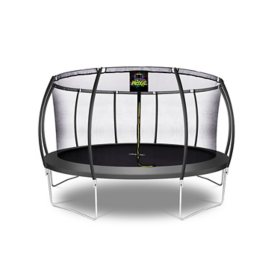 Moxie Pumpkin-Shaped 15' Trampoline with Enclosure Net