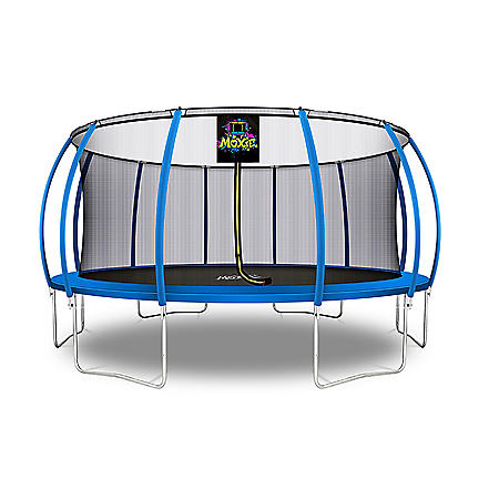 Moxie Pumpkin-Shaped 16' Trampoline with Enclosure Net