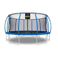 Moxie Pumpkin-Shaped 16' Trampoline with Enclosure Net