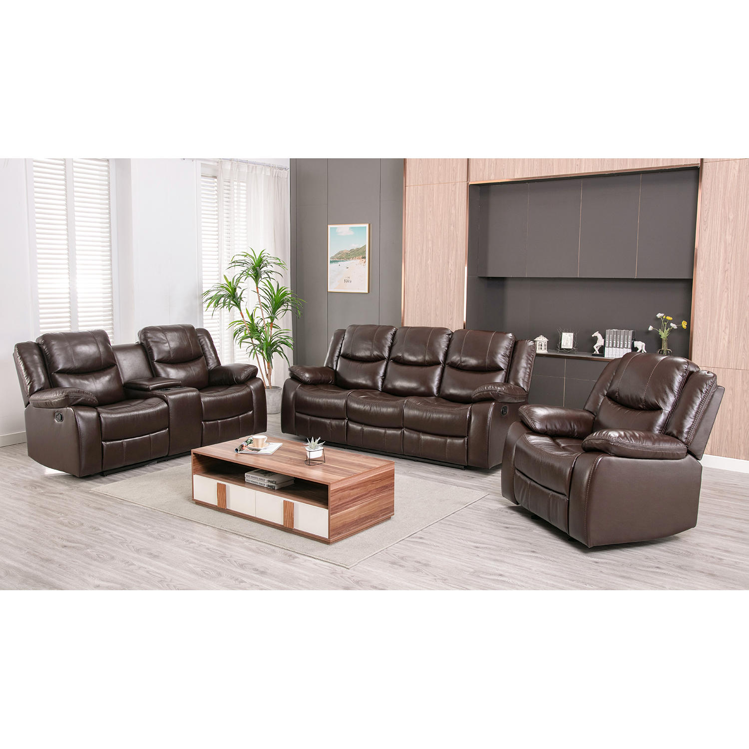 3-Piece Ebello Home Lawrence Reclining Set