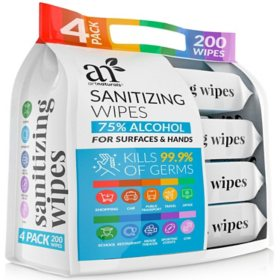 ArtNaturals Sanitizing Wipes (50 ct. ea., 4 pk.)