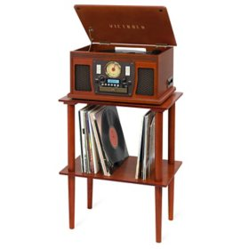 Victrola Navigator Bluetooth Record Player with Matching Record Stand