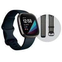 Fitbit Sense Steel Black Large Bundle