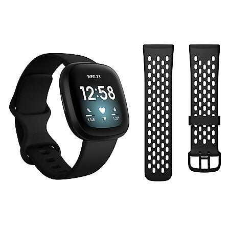 Fitbit Versa 3 Bundle (Choose Color)