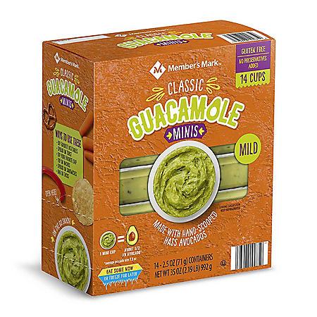 Member's Mark Mini Original Guacamole Cups (2.5 oz., 14 pk.)