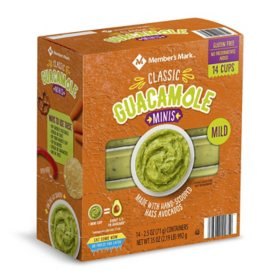 Member's Mark Mini Original Guacamole Cups (2.5 oz., 14 pk.)