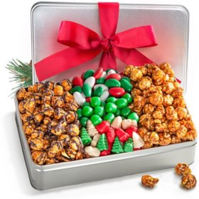 Golden State Fruit Caramel Corn and Christmas Candy Gift Tin