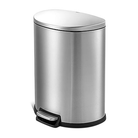 Qualiazero 50L / 13.2 Gallon D-Shape Step Can