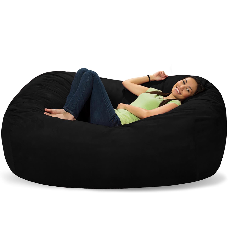 Comfy Sacks 6 Inch Memory Foam Bean Bag Lounger (Assorted Colors)