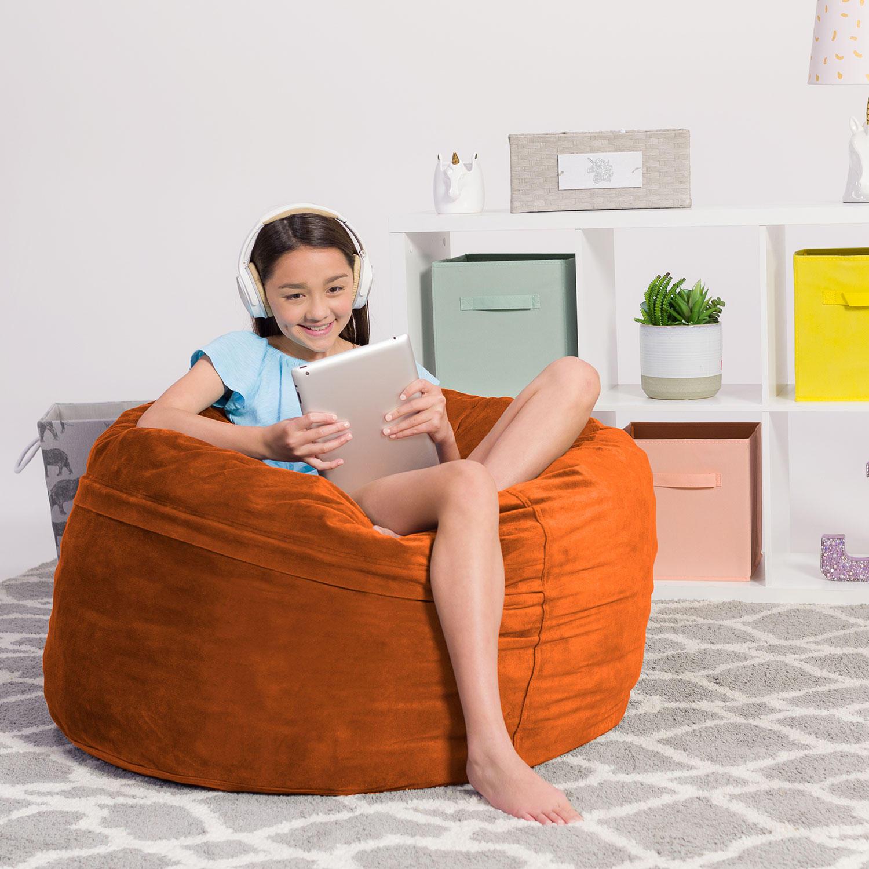 Comfy Sacks Kids 3 Inch Memory Foam Bean Bag Chair