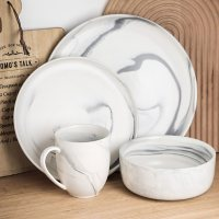 Stone Lain Everly Porcelain 24-Piece Round Dinnerware Set (Assorted Colors)
