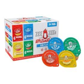 ZEE ZEE's Applesauce Cups, Variety Pack (4 oz., 24 pk.)