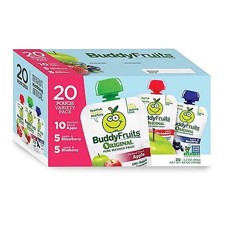 Buddy Fruits Variety Pack (3.2 oz. ea., 20 pk.)