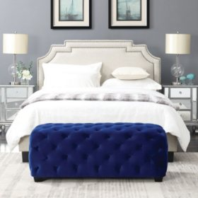 Gabrielle Button-Tufted Ottoman (Assorted Colors)
