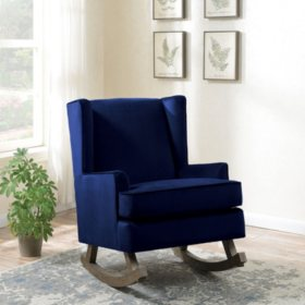 Lily Glider Chair - Ink Blue