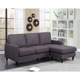 Nori Reversible Chaise Sectional, Assorted Colors