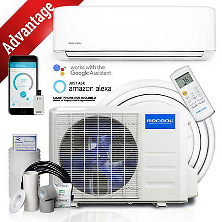 Mr Cool Advantage 12,000 BTU Ductless Mini Split AC and Heat Pump with Wireless-Enabled Smart Controller