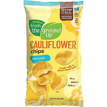 Real Food From The Ground Up Cauliflower Sea Salt Chips (12 oz.)