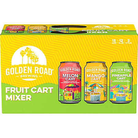 Golden Road Fruit Cart Mixer Variety Pack (12 fl. oz. can, 15 pk.)