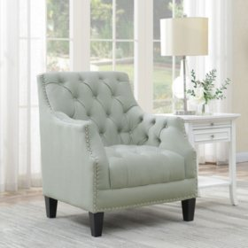 Perry Button-Tufted Accent Chair (Assorted Colors)
