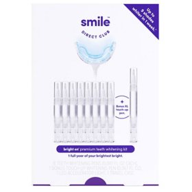 Smile Direct Club Bright On Premium Teeth Whitening Kit with 8 pens, LED light + Bonus Pen