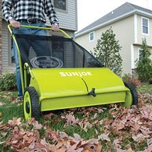 "Sun Joe 26"" Manual-Push Lawn Sweeper"