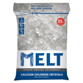 Snow Joe MELT Resealable Bag Calcium Chloride Crystals Ice Melter ( 25-lb.)