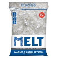 MELT 50 Lb. Resealable Bag Calcium Chloride Crystals Ice Melter - MELT50CC
