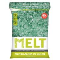 MELT 50 Lb. Resealable Bag Premium Enviro-Blend Ice Melter w/ CMA - MELT50EB