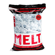 25 lb. MELT Professional Strength Calcium Chloride Pellets Ice Melter - Re-Sealable Bag