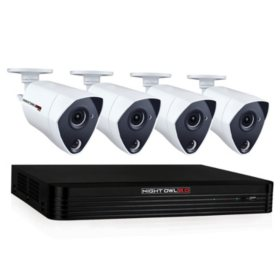 Night Owl 8-Channel 4K DVR Surveillance System with 2TB Hard Drive, 4-Camera 4K Indoor/Outdoor Cameras