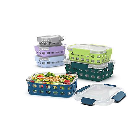 Ello DuraGlass 12-piece Glass Food Storage Set