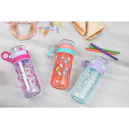 Ello Stratus 16-Ounce Tritan Water Bottle, 3 Pack (Assorted Colors)